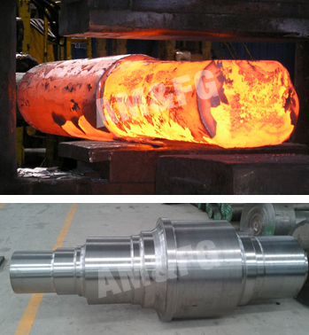 Forged Step Shaft for Turbine