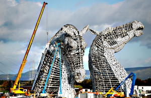 30 Meter Horse Head Sculptures Near Completion...FALKIRK, SCOTLA